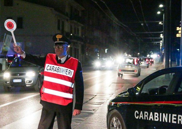 carabinieri controllo notte