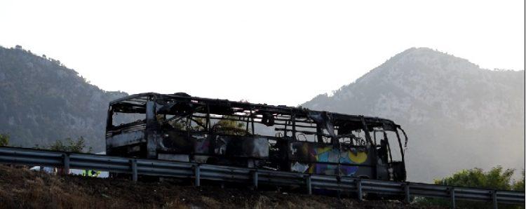 autobus incendio solofra