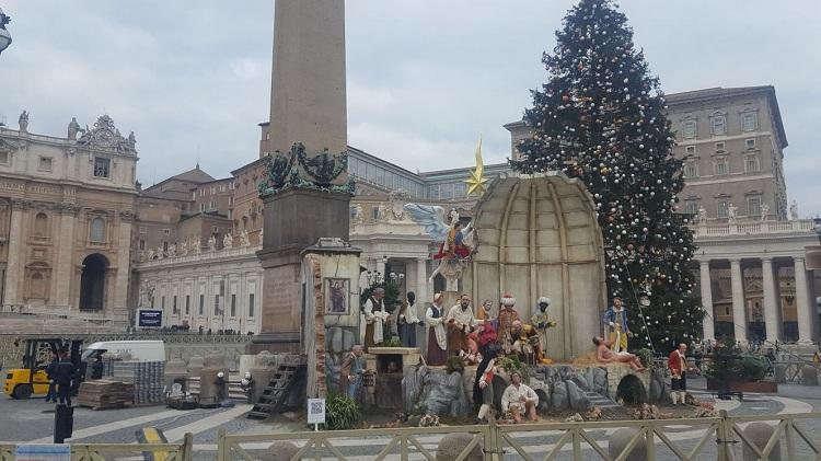 Presepe in piazza S. Pietro