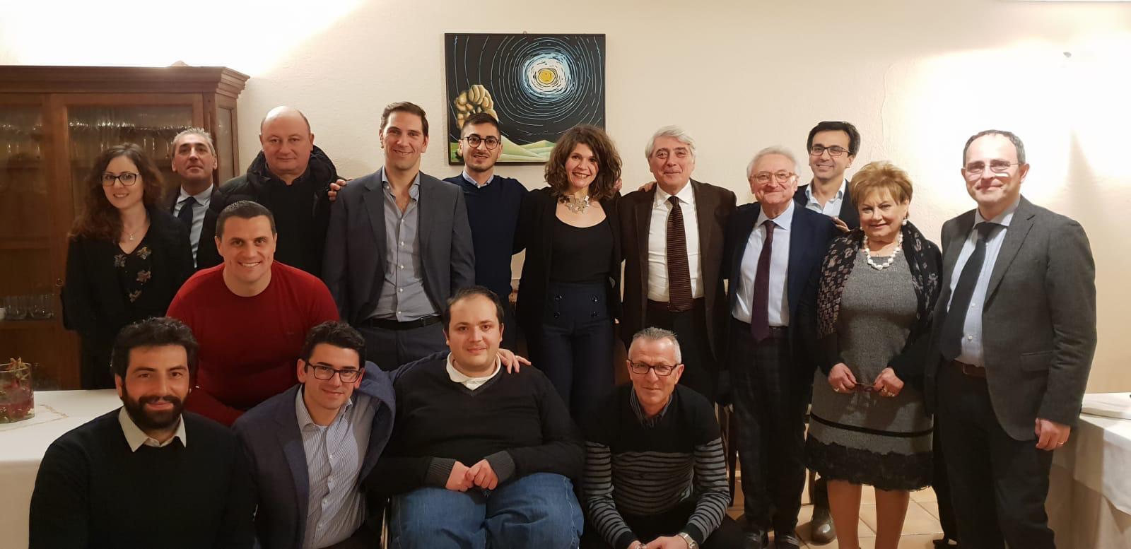 il presidente Biancardi con gli amministratori di Gesualdo