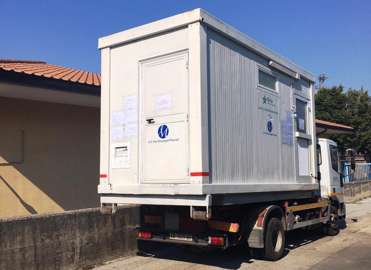 Consegna container operatori 118