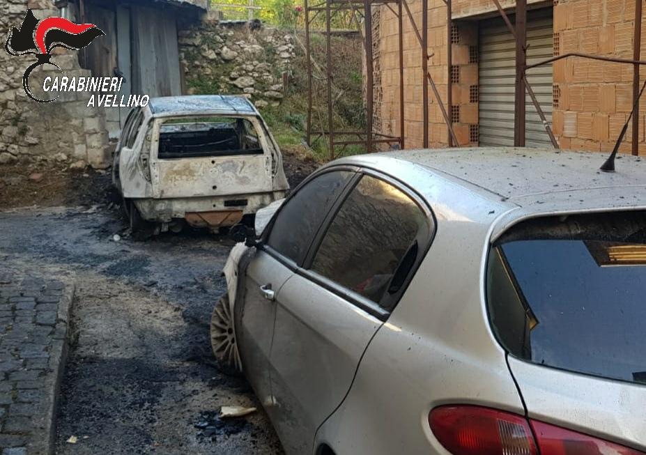 auto incendiata volturara