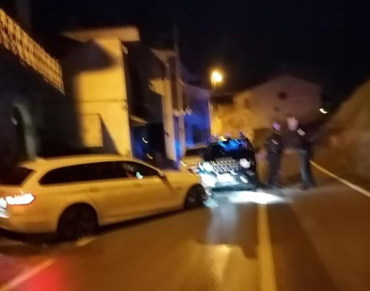 incidente bmw carabinieri